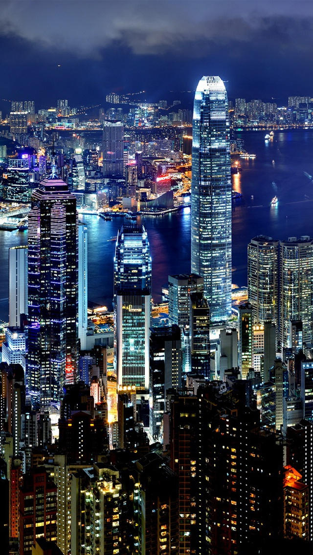 Hong kong noite iphone x 8 7 6 5 4 3gs pap is de parede for Papeis paredes iphone 5s