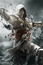 2013 game, Assassins Creed 4: Black Flag iPhone Papéis de Parede