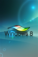 Logo 3D do Windows 8 iPhone Papéis de Parede
