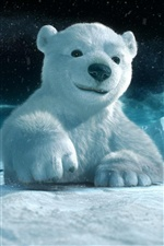 3D urso polar iPhone Wallpaper