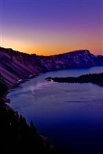 Crater Lake, em Oregon iPhone Wallpaper