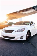 Lexus IS carro branco iPhone Wallpaper