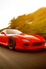 Red Mazda RX-7 FD supercarro iPhone Wallpaper