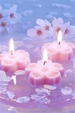 Plum luz de velas iPhone Wallpaper