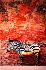 Parede vermelha, zebra iPhone Wallpaper