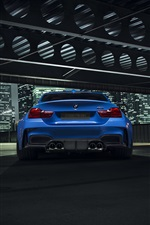 BMW GTRS4 azul carro retrovisor iPhone Wallpaper