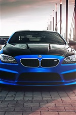 2013 Hamann BMW Coupe F13 carro azul iPhone Wallpaper