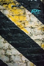 Parede de graffiti, listras iPhone Wallpaper